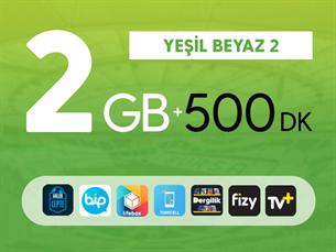 Satın Al Yeşil Beyaz 2GB