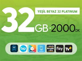Yeşil Beyaz 32GB Platinum