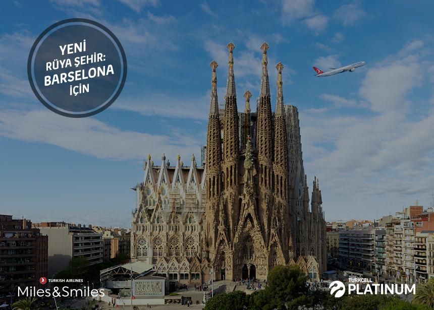 Barselona biletiniz için 20.000 Mil ve Vergiler Bizden
