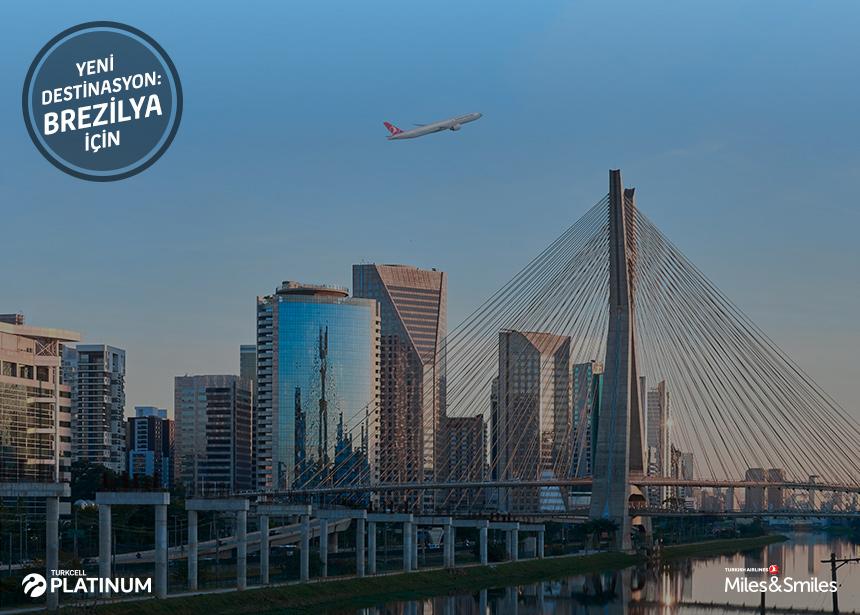 Sao Paulo biletiniz için 80.000 Mil ve Vergiler Bizden