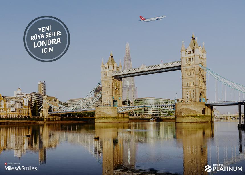 Londra biletiniz için 20.000 Mil ve Vergiler Bizden