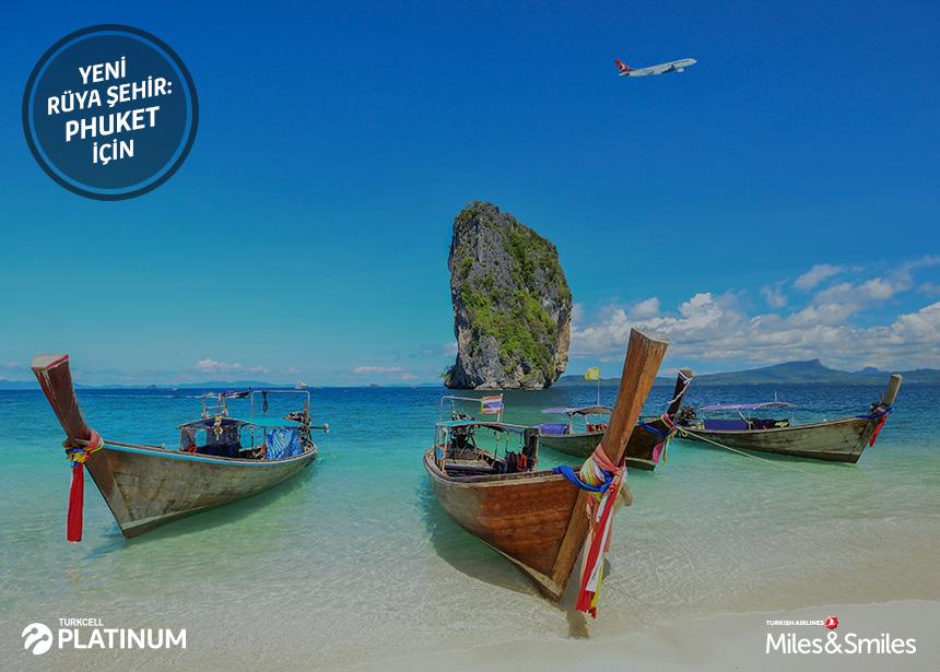 Phuket biletiniz için 60.000 Mil ve Vergiler Bizden