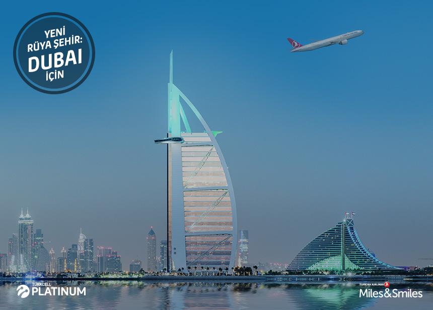 Dubai biletiniz için 35.000 mil ve vergiler bizden