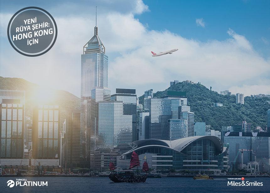 Hong Kong biletiniz için 60.000 Mil ve Vergiler Bizden