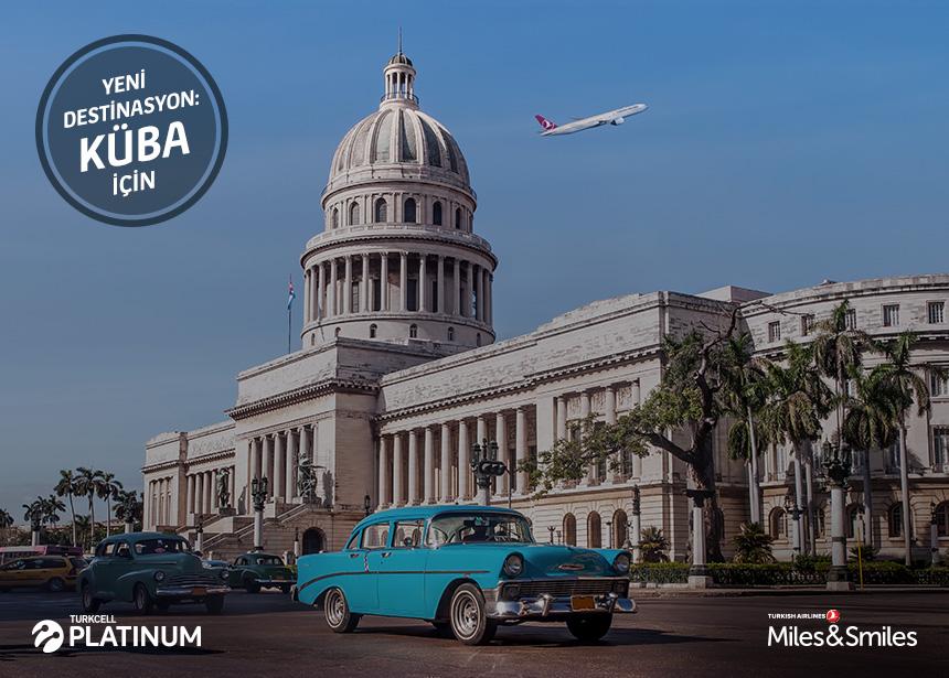 Küba biletiniz için 60.000 Mil ve Vergiler Bizden
