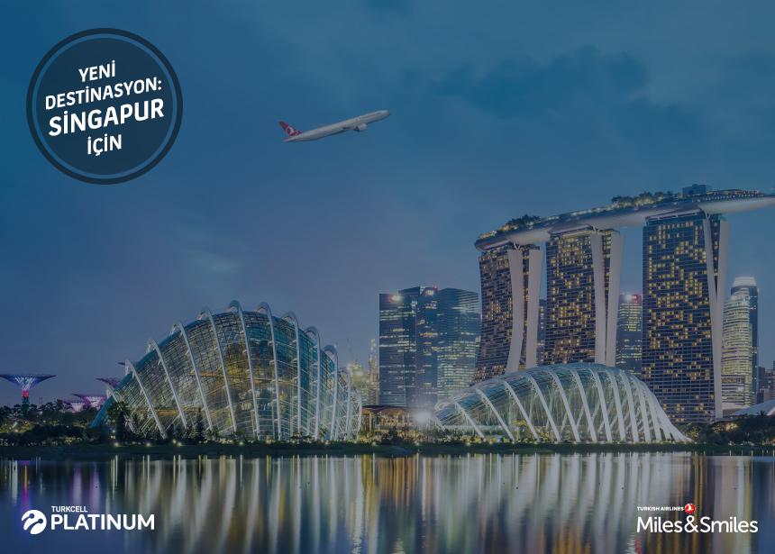 Singapur biletiniz için 60.000 Mil ve Vergiler Bizden