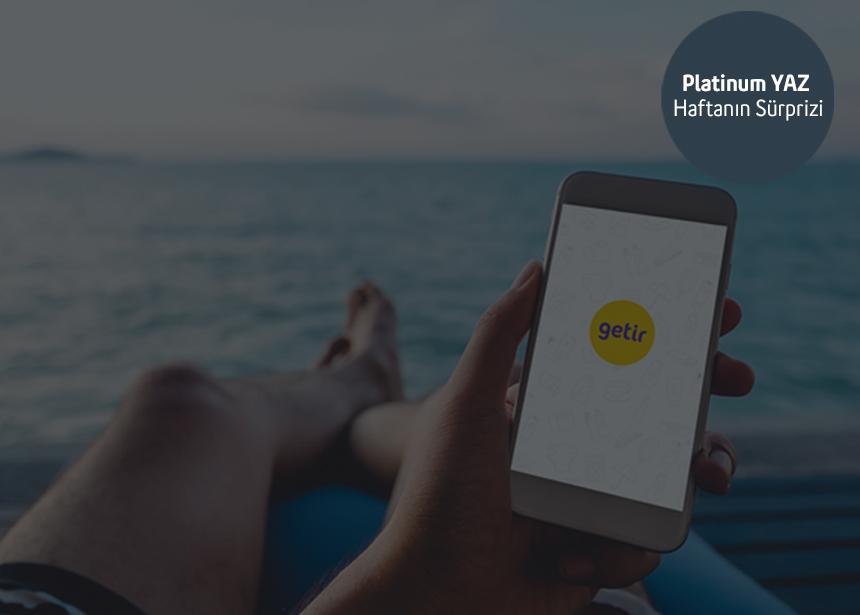 12-18 Temmuz haftası 25 TL hediyemizden yararlanan ilk 5000 müşterimizden biri olmak için Platinum şifrenizi alarak Getir'de kullanabilirsiniz. Keyifli alışverişler dilerizRelated Articles