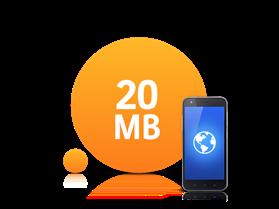 20 MB İnternet Paketi