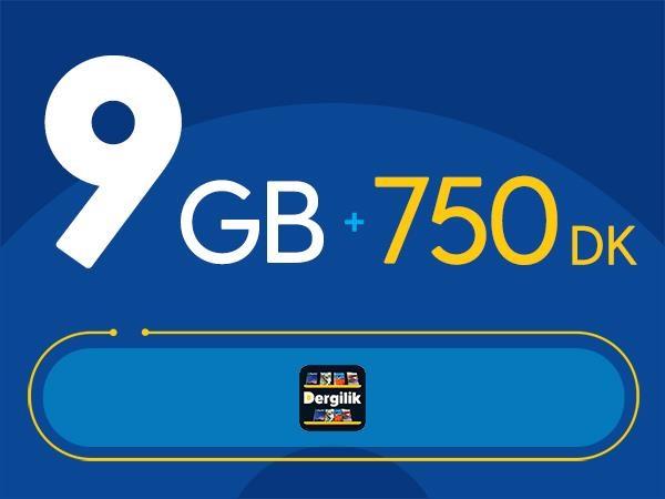 Rahat Kal 9GB Paketi - Tekrarsız