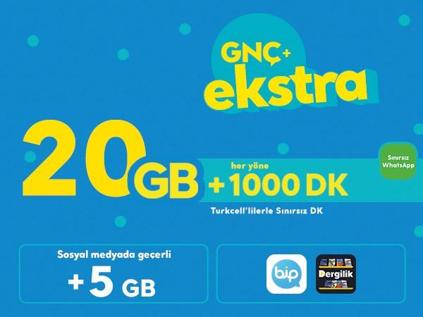 GNÇ+ Ekstra 20 GB