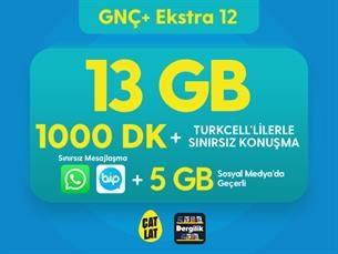Satın Al GNÇ+ Ekstra 12 GB