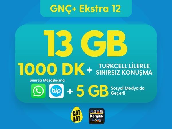 GNÇ+ Ekstra 12 GB