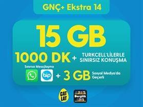 GNÇ+ Ekstra 14 GB