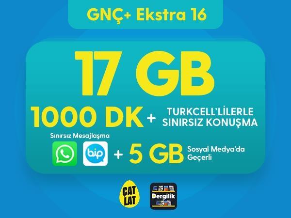 GNÇ+ Ekstra 16 GB