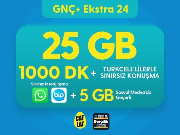 GNÇ+ Ekstra 24 GB