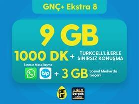 GNÇ+ Ekstra 8 GB