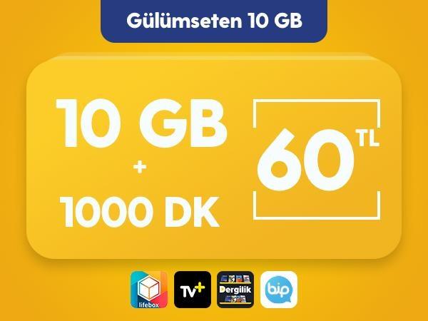 Gülümseten 10 GB Paketi