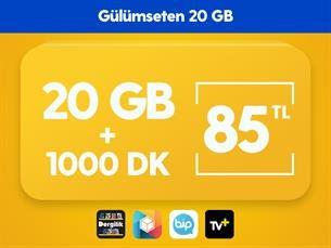 Satın Al Gülümseten 20 GB Paketi