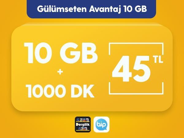 Gülümseten Avantaj 10 GB Paketi