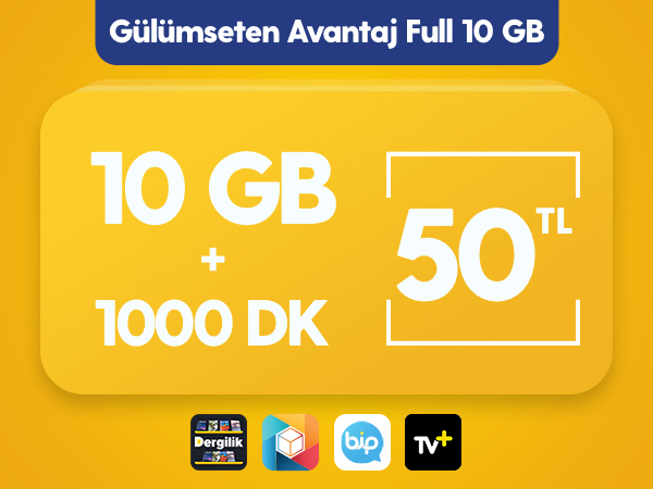 Gülümseten Avantaj Full 10 GB Paketi