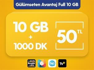 Satın Al Gülümseten Avantaj Full 10 GB Paketi