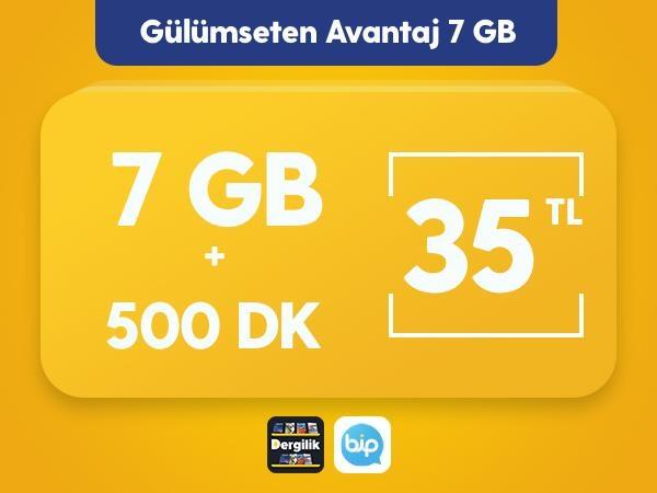 Gülümseten Avantaj 7 GB Paketi