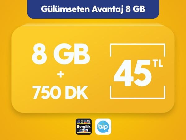 Gülümseten Avantaj 8 GB Paketi