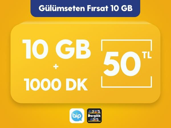 Gülümseten Fırsat 10 GB Paketi