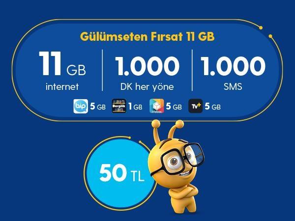 Gülümseten Fırsat 11 GB Paketi