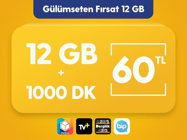 Gülümseten Fırsat 12 GB Paketi