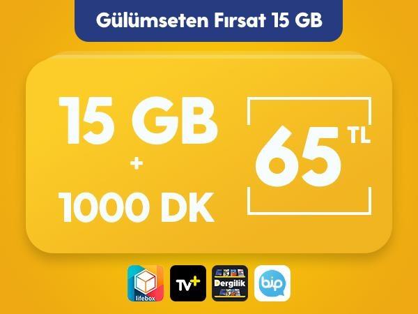 Gülümseten Fırsat 15 GB Paketi