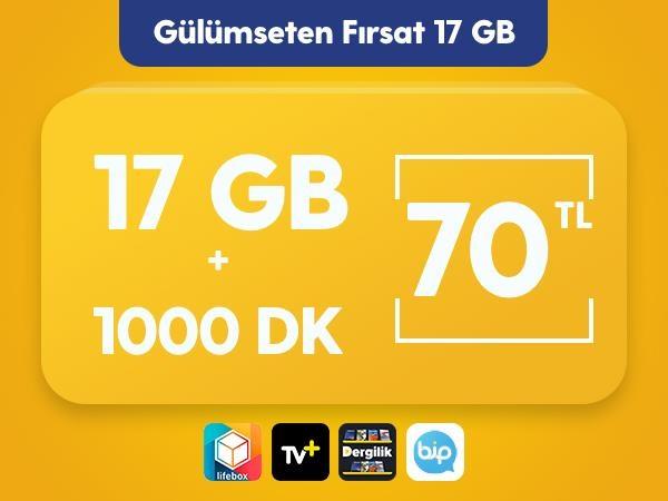 Gülümseten Fırsat 17 GB Paketi