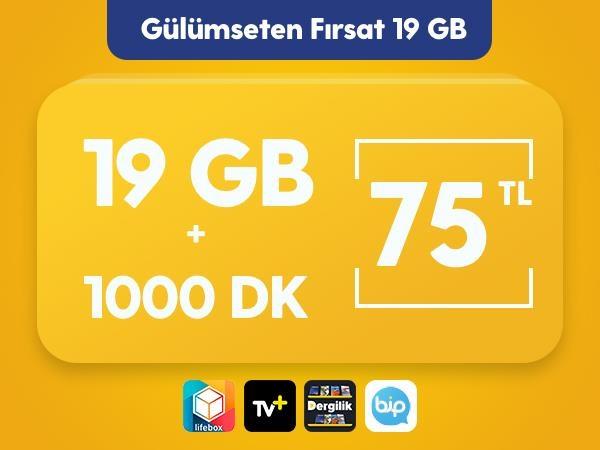 Gülümseten Fırsat 19 GB Paketi