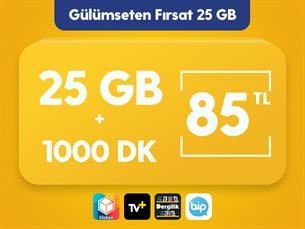 Satın Al Gülümseten Fırsat 25 GB Paketi