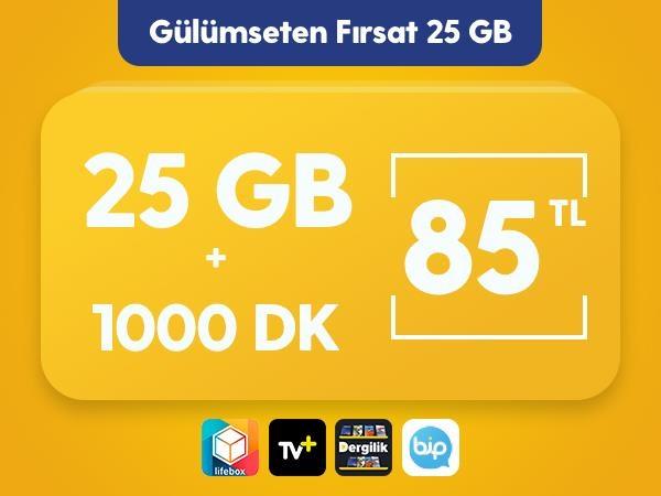 Gülümseten Fırsat 25 GB Paketi