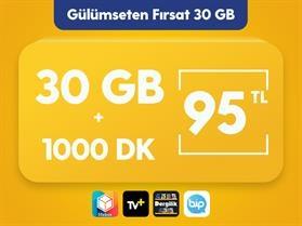 Gülümseten Fırsat 30 GB Paketi