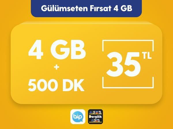 Gülümseten Fırsat 4 GB Paketi