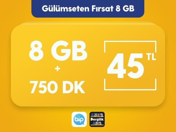 Gülümseten Fırsat 8 GB Paketi