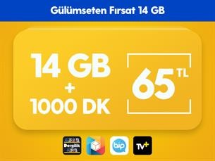 Satın Al Gülümseten Fırsat 14 GB Paketi