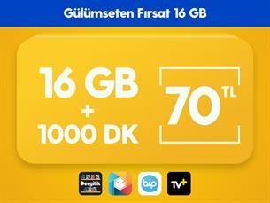 Satın Al Gülümseten Fırsat 16 GB Paketi