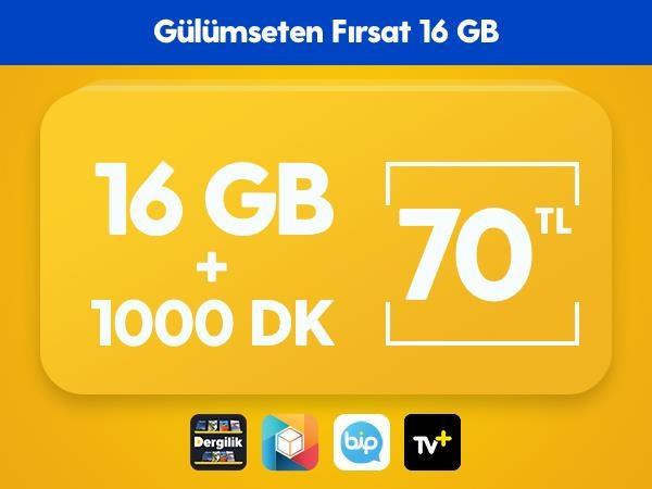 Gülümseten Fırsat 16 GB Paketi