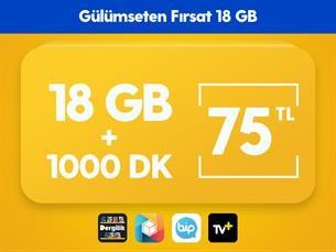 Satın Al Gülümseten Fırsat 18 GB Paketi