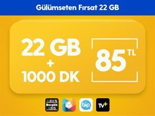 Satın Al Gülümseten Fırsat 22 GB Paketi