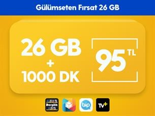 Satın Al Gülümseten Fırsat 26 GB Paketi