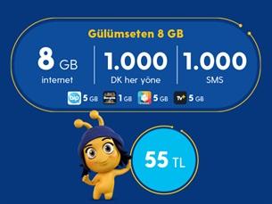 Satın Al Gülümseten 8 GB Paketi