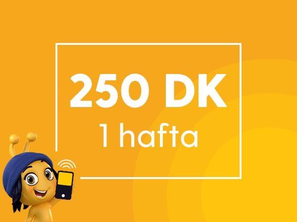Haftalık 250 Dakika Paketi