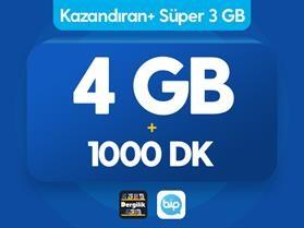 Kazandıran+ Süper 3GB