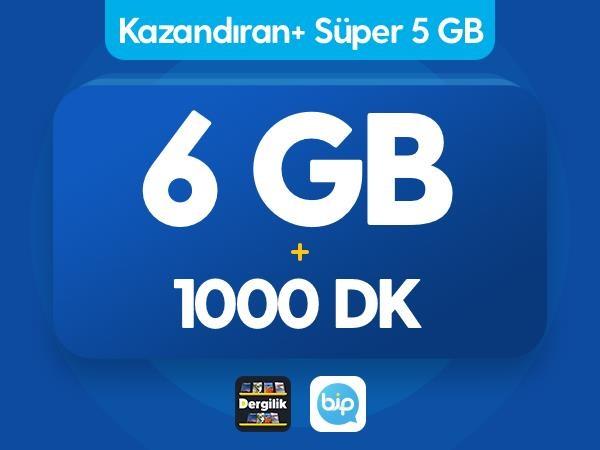 Kazandıran+ Süper 5GB