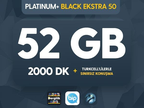 Platinum+ Black Ekstra 50