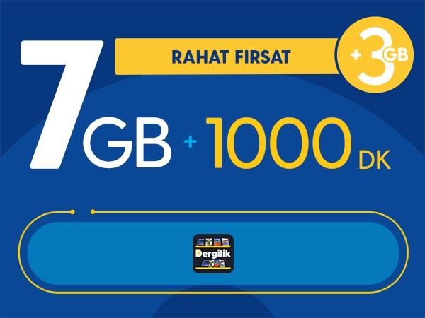 Rahat Fırsat 7GB Paketi - Tekrarsız